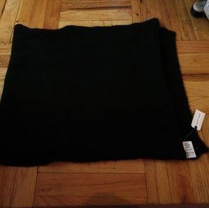 Black oversized knit Scarf